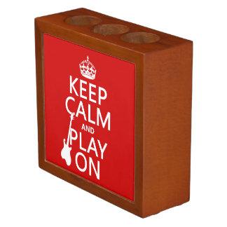 平静を保ち、で遊んで下さい(ギター) (どの色でも) ペンスタンド