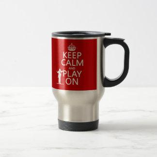 平静を保ち、で遊んで下さい(コンダクター) (どの色でも) トラベルマグ
