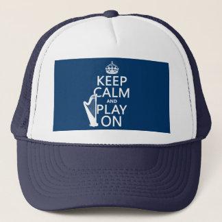 平静を保ち、で遊んで下さい(ハープ) (どの色でも) キャップ