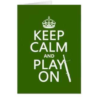 平静を保ち、で遊んで下さい(バスーン) (どの色でも) カード