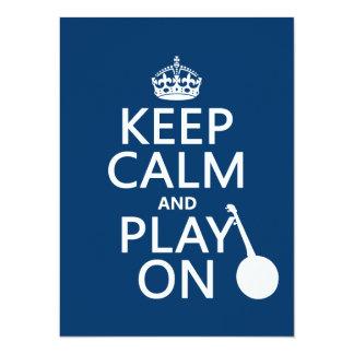 平静を保ち、で遊んで下さい(バンジョー) (どのbckgrd色でも) カード