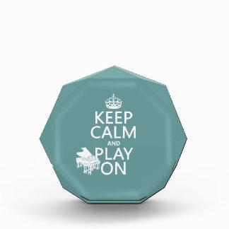 平静を保ち、で遊んで下さい(ピアノ) (あらゆる背景色 表彰盾