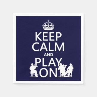 平静を保ち、で遊んで下さい(弦楽器) スタンダードカクテルナプキン