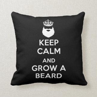 平静を保ち、ひげを育てて下さい クッション