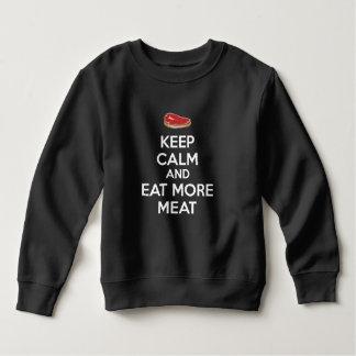 平静を保ち、より多くの肉を食べて下さい スウェットシャツ