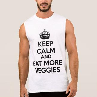 平静を保ち、より多くの野菜を食べて下さい 袖なしシャツ