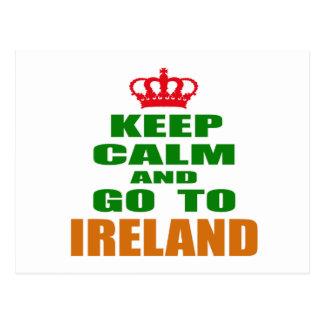 平静を保ち、アイルランドに行って下さい ポストカード