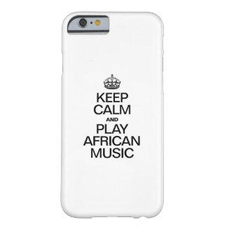平静を保ち、アフリカ音楽を遊んで下さい BARELY THERE iPhone 6 ケース