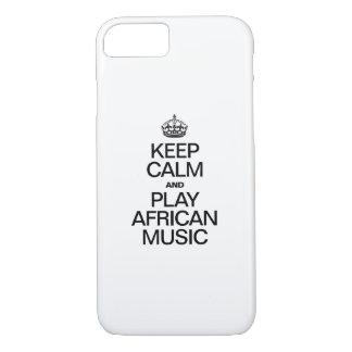 平静を保ち、アフリカ音楽を遊んで下さい iPhone 8/7ケース