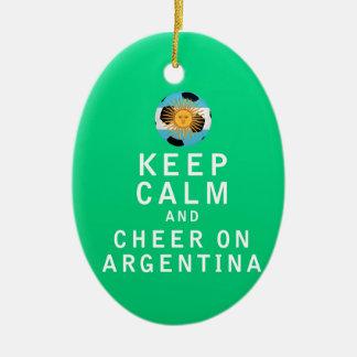 平静を保ち、アルゼンチンで-十分に元気づけて下さい セラミックオーナメント