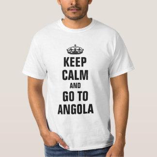 平静を保ち、アンゴラに行って下さい Tシャツ