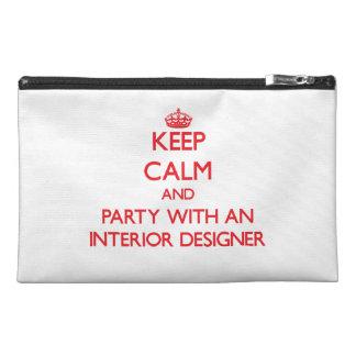 平静を保ち、インテリア・デザイナーとパーティを楽しんで下さい トラベルアクセサリーバッグ