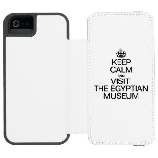 平静を保ち、エジプト博物館を訪問して下さい INCIPIO WATSON™ iPhone 5 財布 ケース