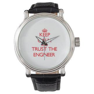 平静を保ち、エンジニアを信頼して下さい 腕時計