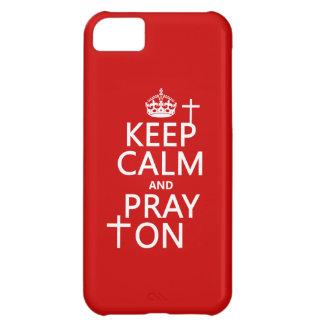 平静を保ち、オン利用できるすべての色を祈って下さい iPhone5Cケース