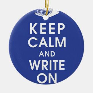 平静を保ち、オーナメントで書いて下さい セラミックオーナメント