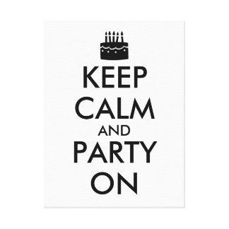 平静を保ち、カスタマイズ可能なケーキでパーティを楽しんで下さい キャンバスプリント
