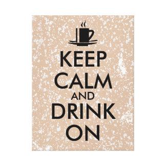平静を保ち、カスタマイズ可能なコーヒー茶で飲んで下さい キャンバスプリント