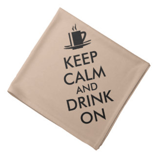 平静を保ち、カスタマイズ可能なコーヒー茶で飲んで下さい バンダナ