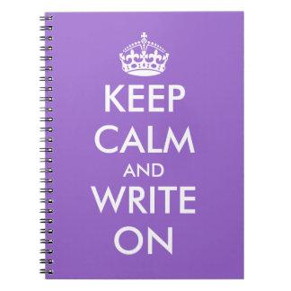 平静を保ち、カスタマイズ可能なノート|で書いて下さい ノートブック