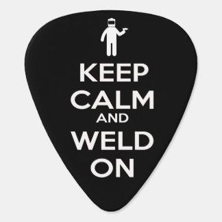 平静を保ち、ギターピックで溶接して下さい ギターピック