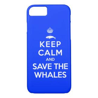平静を保ち、クジラを救って下さい iPhone 8/7ケース