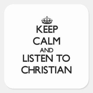 平静を保ち、クリスチャンに聞いて下さい スクエアシール