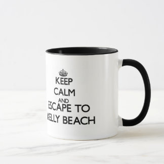 平静を保ち、ケリーのビーチロードアイランドに脱出して下さい マグカップ
