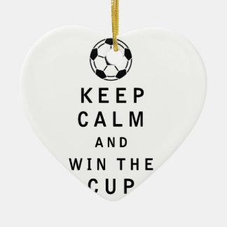 平静を保ち、コップに勝って下さい セラミックオーナメント
