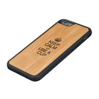 平静を保ち、コップを使用して下さい CarvedチェリーiPhone 6バンパーケース