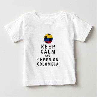 平静を保ち、コロンビアで元気づけて下さい ベビーTシャツ