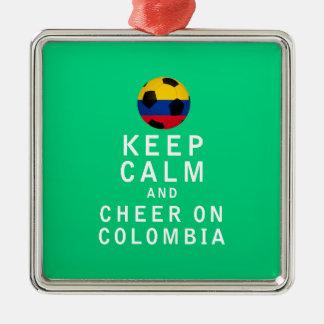 平静を保ち、コロンビアで元気づけて下さい メタルオーナメント