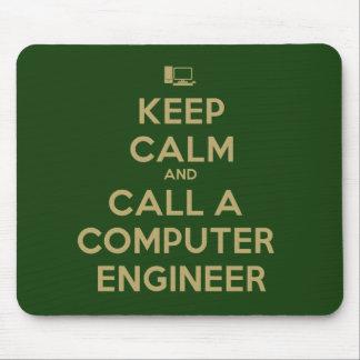 平静を保ち、コンピューター技術者のマウスパッドを呼んで下さい マウスパッド