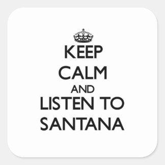 平静を保ち、サンタナに聞いて下さい スクエアシール