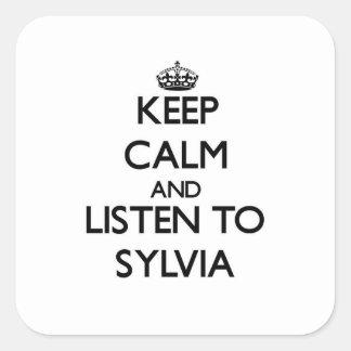 平静を保ち、シルビアに聞いて下さい スクエアシール