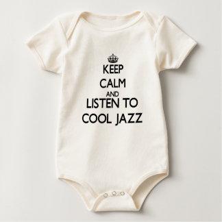 平静を保ち、ジャズを冷却するために聞いて下さい ベビーボディスーツ