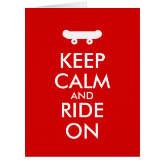 平静を保ち、スケートボードをするライダーのカスタムで乗って下さい ビッググリーティーングカード