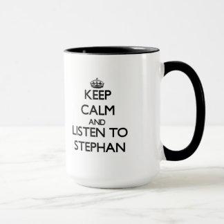 平静を保ち、スティーブンに聞いて下さい マグカップ