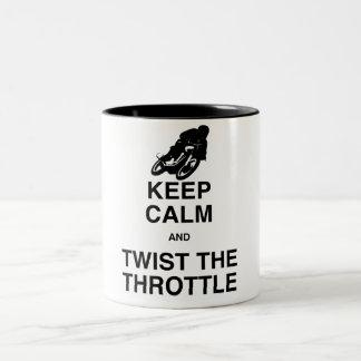 平静を保ち、スロットをねじって下さい ツートーンマグカップ