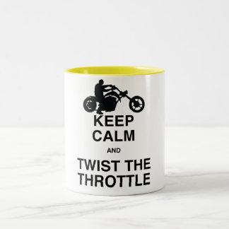 平静を保ち、スロットを-チョッパーかハーレーねじって下さい ツートーンマグカップ