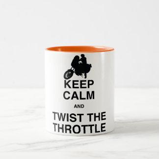 平静を保ち、スロットを-巡洋艦かハーレーねじって下さい ツートーンマグカップ