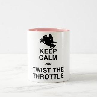 平静を保ち、スロットを-通りかスポーツねじって下さい ツートーンマグカップ