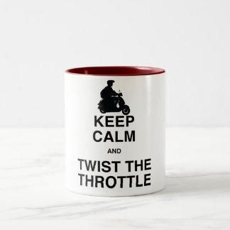 平静を保ち、スロット- /Vespa --をねじって下さい ツートーンマグカップ