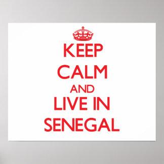 平静を保ち、セネガルに住んで下さい ポスター
