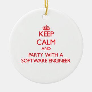 平静を保ち、ソフトウェアエンジニアとパーティを楽しんで下さい セラミックオーナメント