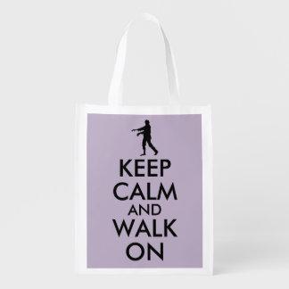 平静を保ち、ゾンビのエコバッグのテンプレートで歩かせて下さい エコバッグ