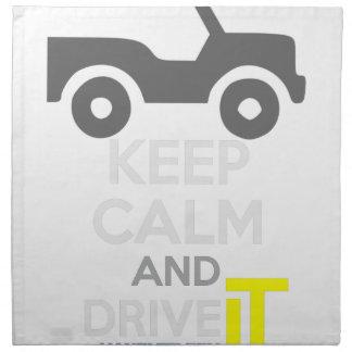 平静を保ち、-タラ運転して下さい: LDDefender ナプキンクロス