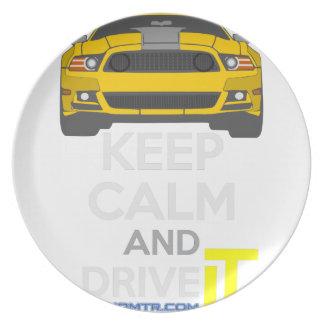 平静を保ち、-タラ運転して下さい。 Mustang302Boss プレート