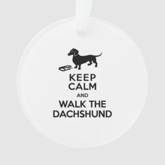 平静を保ち、ダックスフント-かわいいDoxie歩かせて下さい オーナメント