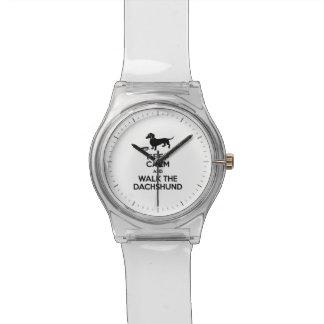 平静を保ち、ダックスフント-かわいいDoxie歩かせて下さい 腕時計